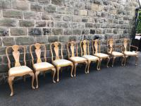Burr Walnut Dining Table & 8 Chairs by Epstein (11 of 12)