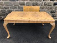 Burr Walnut Dining Table & 8 Chairs by Epstein (3 of 12)