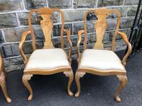 Burr Walnut Dining Table & 8 Chairs by Epstein (9 of 12)