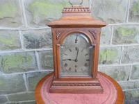 Antique Oak Bracket Clock by Garrard c.1900