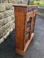 Antique Carved Oak Glazed Bookcase (2 of 10)