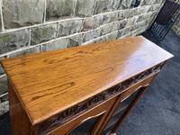 Antique Carved Oak Glazed Bookcase (3 of 10)