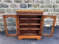 Antique Carved Oak Glazed Bookcase (8 of 10)