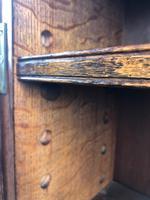 Antique Carved Oak Glazed Bookcase (9 of 10)
