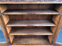 Antique Carved Oak Glazed Bookcase (10 of 10)