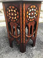 Decorative Antique Inlaid Table c.1890 (2 of 8)