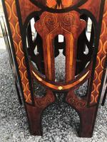 Decorative Antique Inlaid Table c.1890 (4 of 8)