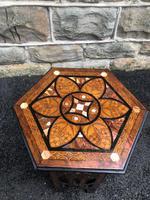Decorative Antique Inlaid Table c.1890 (5 of 8)