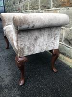 Antique English Walnut Window Seat Stool (3 of 7)