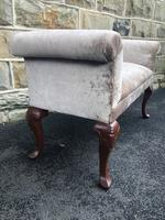 Antique English Walnut Window Seat Stool (5 of 7)