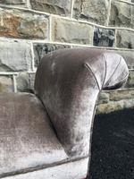 Antique English Walnut Window Seat Stool (7 of 7)