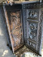 Antique Carved Oak Hall Seat Bench (8 of 11)