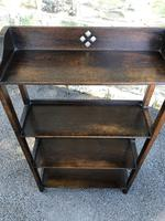 Antique Oak Open Bookcase (3 of 7)