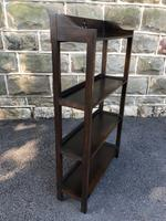 Antique Oak Open Bookcase (4 of 7)