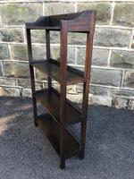 Antique Oak Open Bookcase (6 of 7)