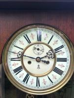 Antique Walnut Double Weight Vienna Wall Clock Gustav Becker (3 of 10)