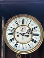 Antique Walnut Double Weight Vienna Wall Clock Gustav Becker (6 of 10)