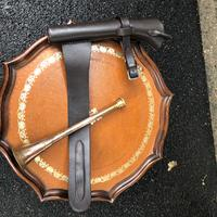 Copper Hunting Horn in Leather Case (3 of 5)