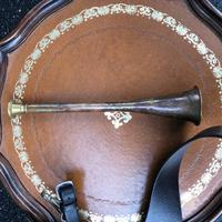 Copper Hunting Horn in Leather Case (4 of 5)