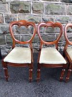 Antique Set of 6 Mahogany Balloon Back Dining Chairs (2 of 11)