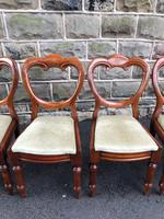 Antique Set of 6 Mahogany Balloon Back Dining Chairs (3 of 11)