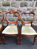 Antique Set of 6 Mahogany Balloon Back Dining Chairs (4 of 11)