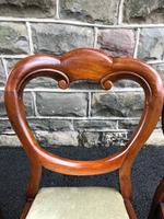 Antique Set of 6 Mahogany Balloon Back Dining Chairs (5 of 11)