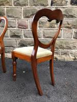 Antique Set of 6 Mahogany Balloon Back Dining Chairs (6 of 11)