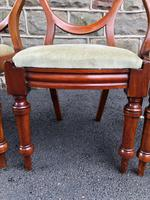 Antique Set of 6 Mahogany Balloon Back Dining Chairs (8 of 11)