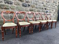 Antique Set of 6 Mahogany Balloon Back Dining Chairs (9 of 11)