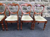 Antique Set of 6 Mahogany Balloon Back Dining Chairs (11 of 11)
