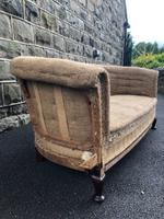 Antique English Upholstered Sofa for recovering (2 of 9)