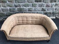 Antique English Upholstered Sofa for recovering (3 of 9)