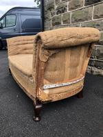 Antique English Upholstered Sofa for recovering (4 of 9)