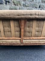 Antique English Upholstered Sofa for recovering (6 of 9)