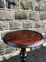 Antique Mahogany Torchiere Plant Stand (5 of 6)