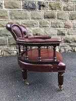Antique Mahogany & Leather Club Armchair (9 of 9)