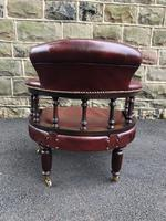 Antique Mahogany & Leather Club Armchair (8 of 9)