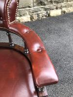 Antique Mahogany & Leather Club Armchair (5 of 9)