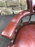 Antique Mahogany & Leather Club Armchair (4 of 9)