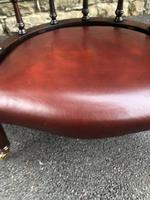 Antique Mahogany & Leather Club Armchair (2 of 9)