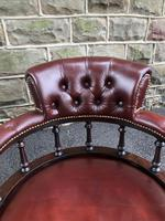 Antique Mahogany & Leather Club Armchair (3 of 9)