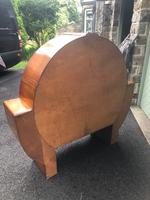 Art Deco Figured Walnut Display Cabinet (4 of 9)