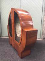 Art Deco Figured Walnut Display Cabinet (3 of 9)