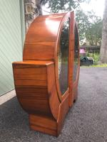 Art Deco Figured Walnut Display Cabinet (2 of 9)