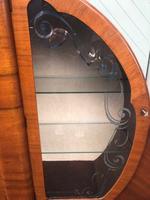 Art Deco Figured Walnut Display Cabinet (6 of 9)