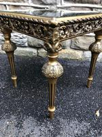 Gilt Wood Mirrored Coffee Table (2 of 4)