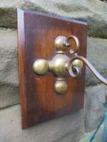 Edwardian Oak & Brass Hanging Wind Chime c.1910 (5 of 5)