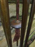 Edwardian Oak & Brass Hanging Wind Chime c.1910 (3 of 5)