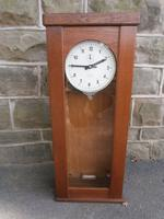 Oak Cased Electric Regulator Clock